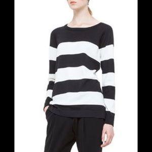 Akris punto striped black & white wool pullover